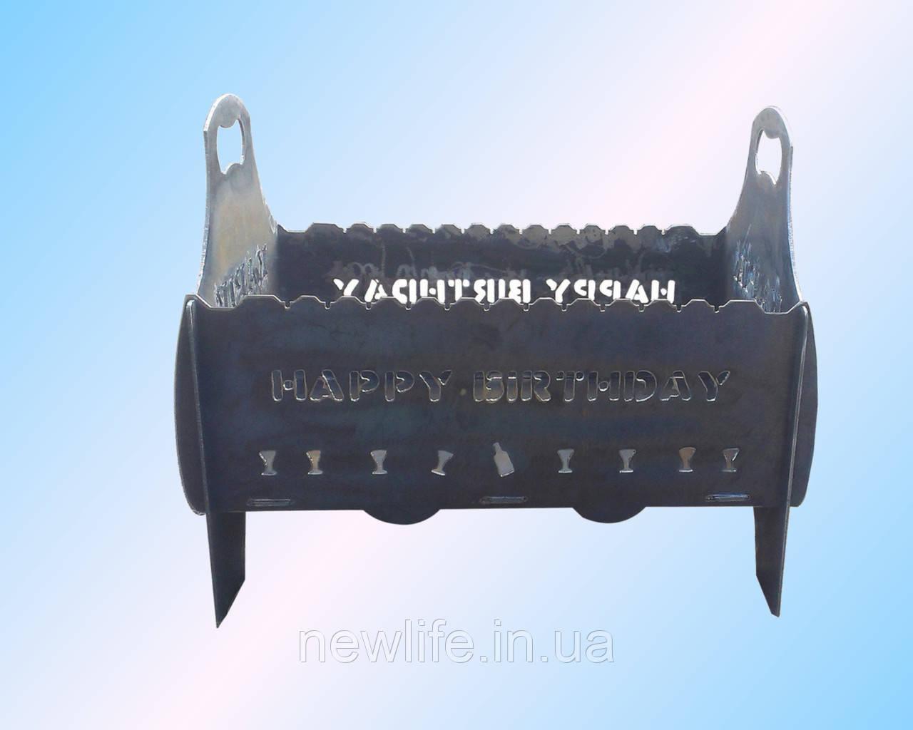 Разборной мангал из 3 мм металла на 10 шампуров, фото 1