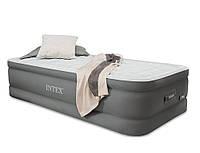 Надувная кровать со встроенным насосом 220В 99х191х46см Intex 64482