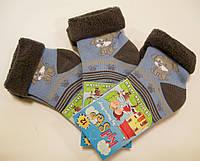 Носки с отворотом махровые для малышей с песиком