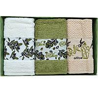 Набор полотенец веточки оливки 30х50 Vianna 100% хлопок кухонное полотенце оптом большой опт