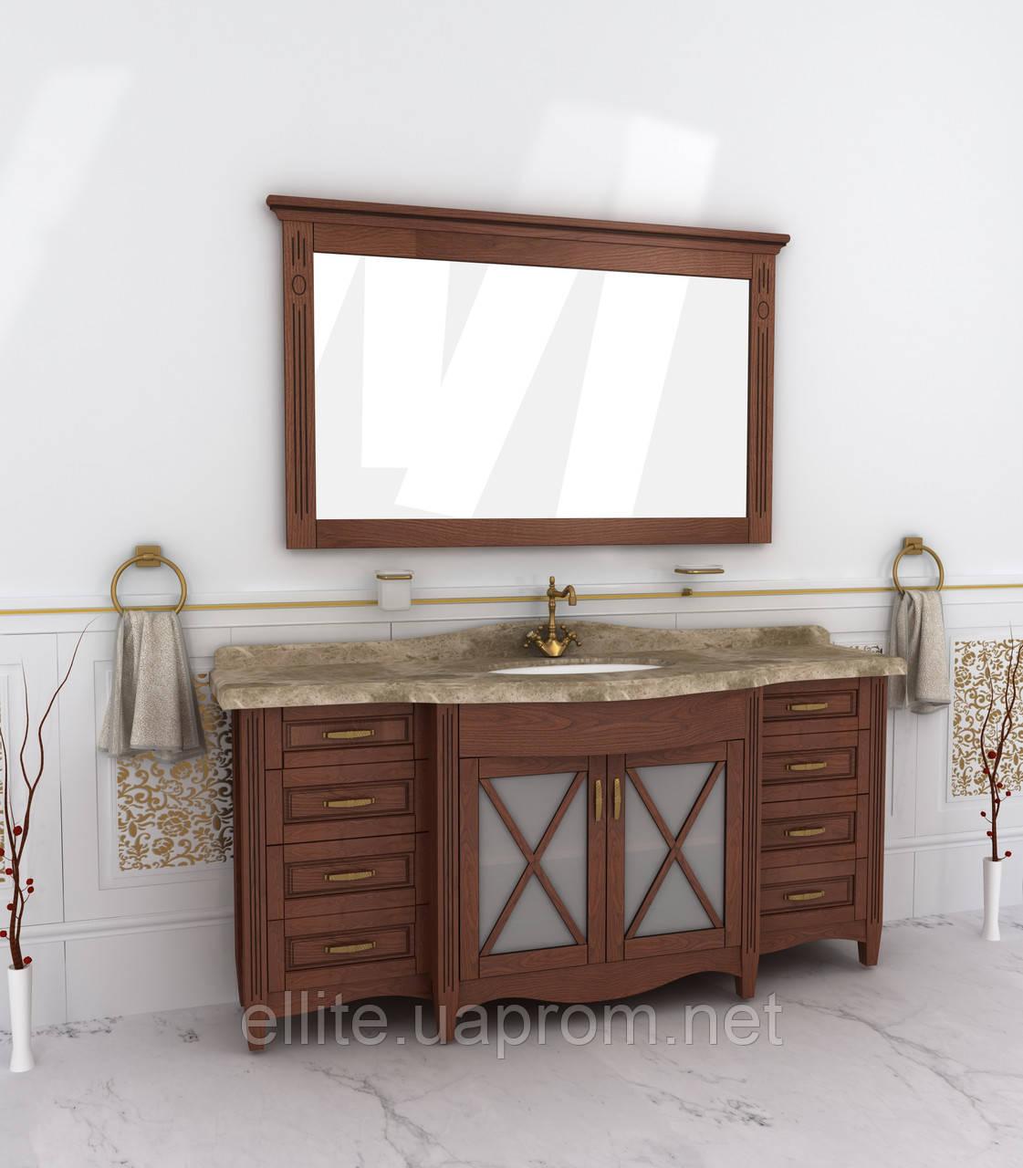 "Тумба и зеркало для ванной ""Аква-люкс"" 180"