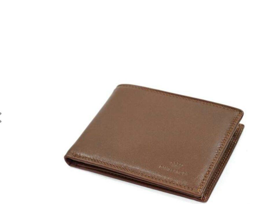 Мужской кожаный кошелек коричневый Daniela Moda dr1856