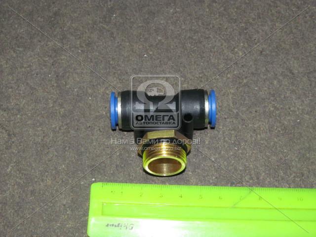 RD 99.41.27 | З'єднувач трубки ПВХ трійник трубка+різьба (12хM22x1.5х12) (в-во RIDER)