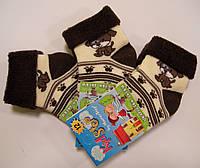 Махровые носки с отворотом для малышей с песиком