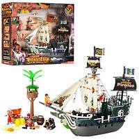 Корабль пиратов 39822C (6шт) 46см,фигурка,крепость,пушка,сундук,в кор-ке,71-42-13см