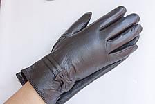Женские кожаные перчатки КРОЛИК СЕНСОРНЫЕ Средние, фото 3