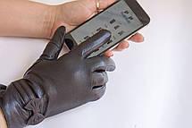 Женские кожаные перчатки КРОЛИК СЕНСОРНЫЕ Средние, фото 2
