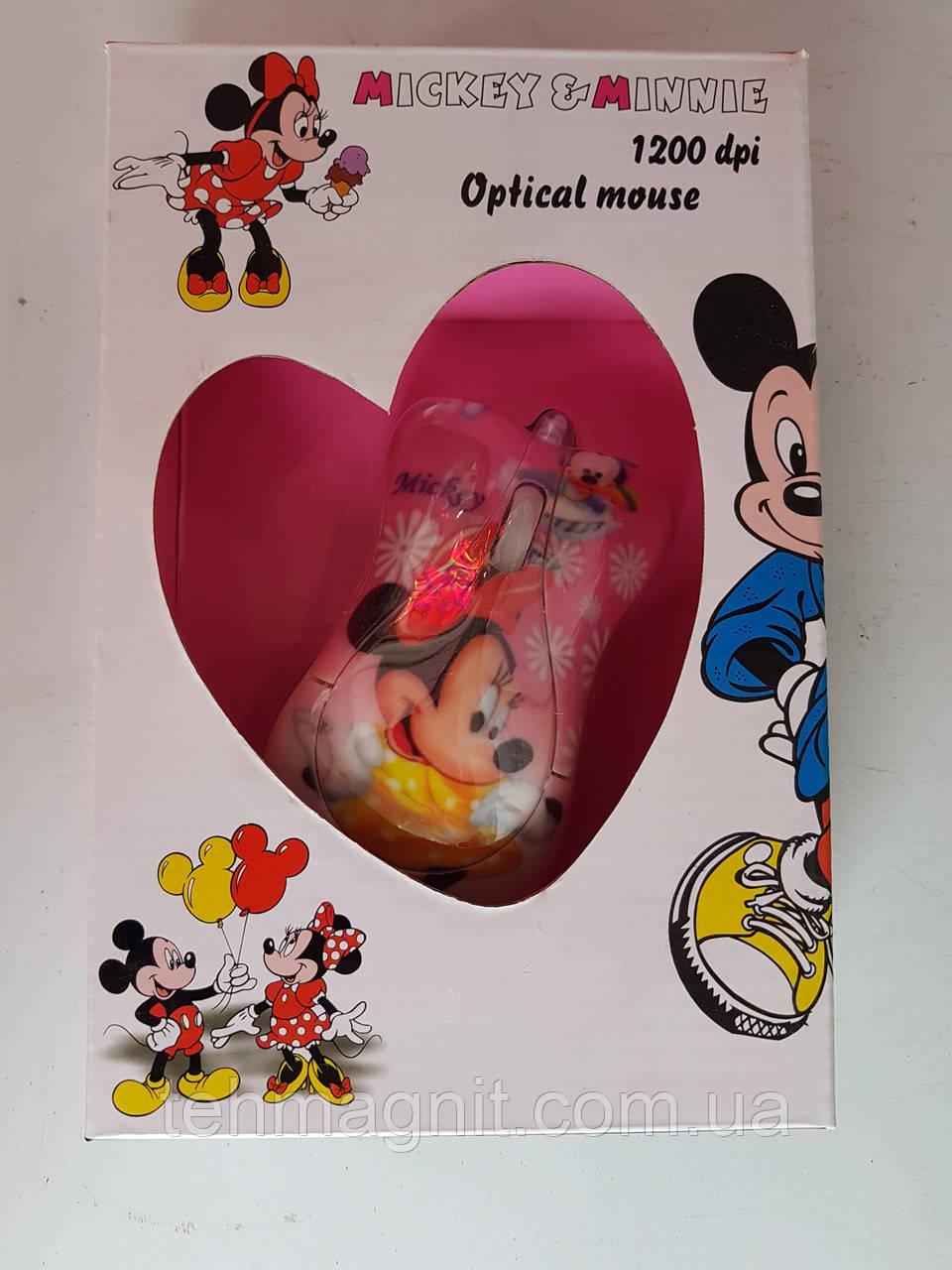 Мышь компьютерная проводная для детей Mickey Mouse купить в Украине для компьютера, ноутбука, PC