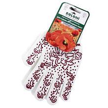Перчатки DOLONI № 622 женские листик розовый ПВХ