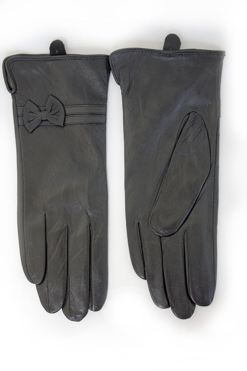 Женские кожаные перчатки КРОЛИК СЕНСОРНЫЕ Маленькие