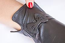 Женские кожаные перчатки КРОЛИК СЕНСОРНЫЕ Маленькие, фото 2