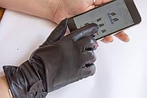 Женские кожаные перчатки КРОЛИК СЕНСОРНЫЕ Маленькие, фото 3