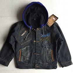 Куртка Джинс на флисе L80-41758