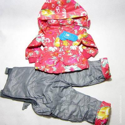 Куртка +комбез Цветы 1201-3978-80 весна-осень