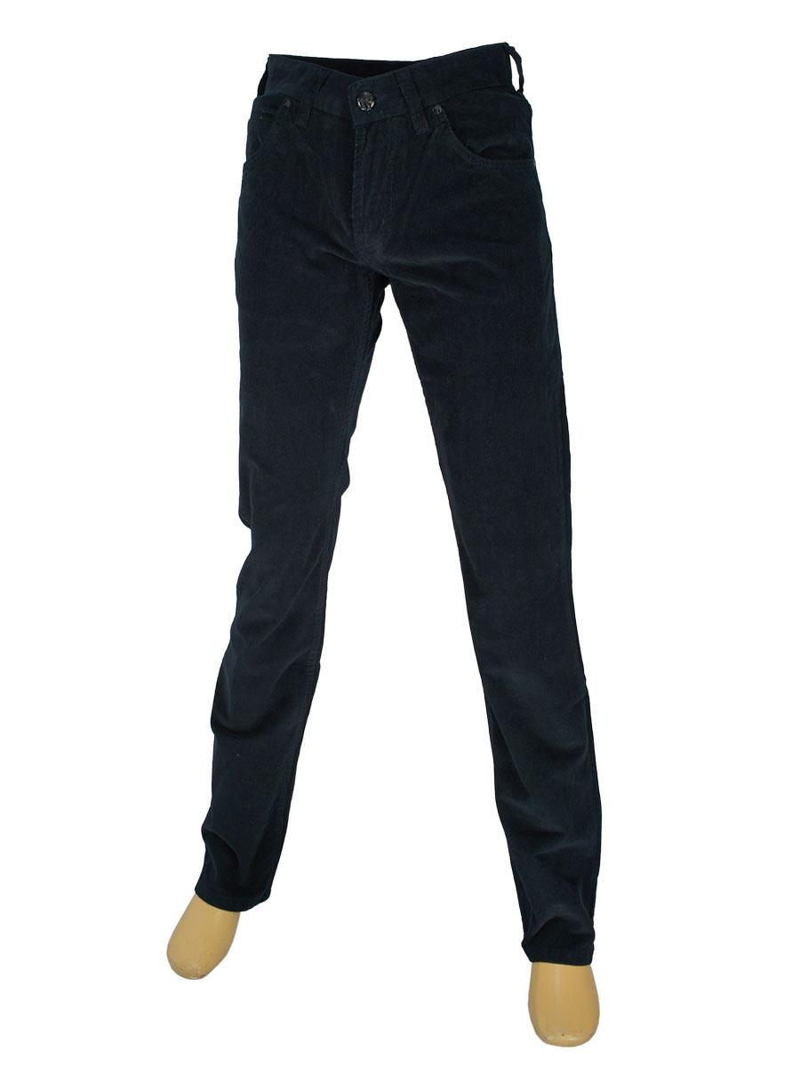 Чоловічі вельветові джинси Cen-cor MD-607-S в темно-синьому кольорі