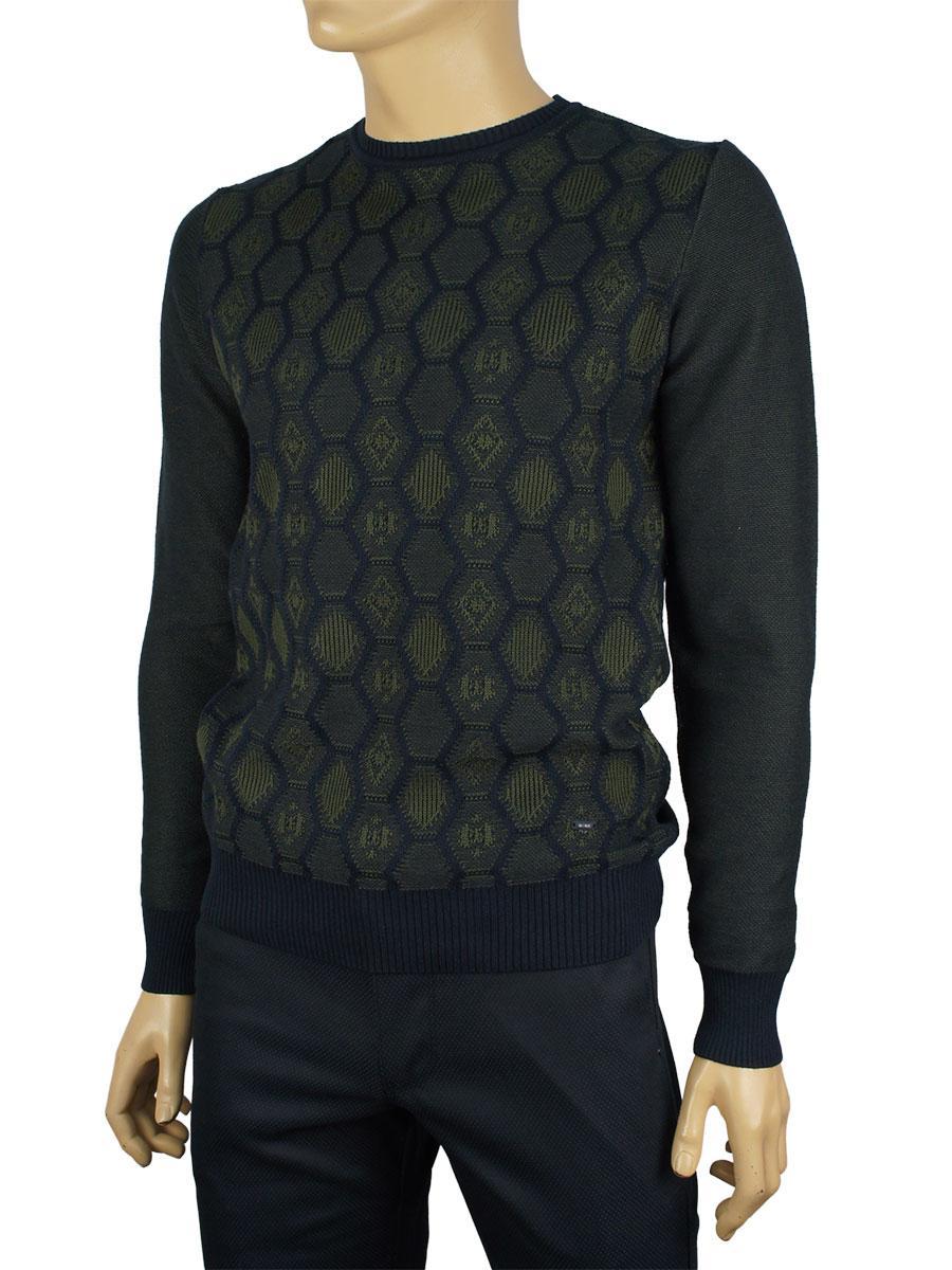 Стильний чоловічий светр NCS 3079 Haki