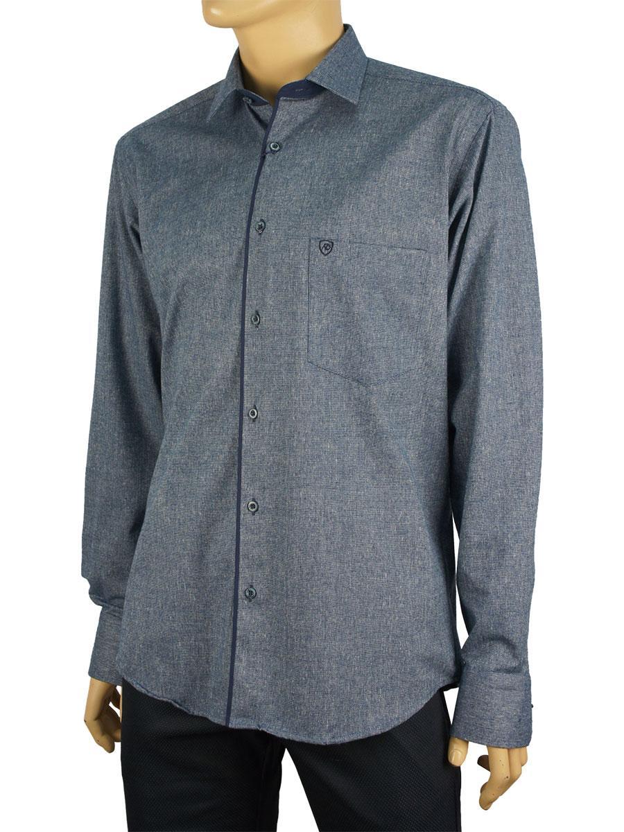 Чоловіча сорочка Negredo 1038#05 в синьому кольорі