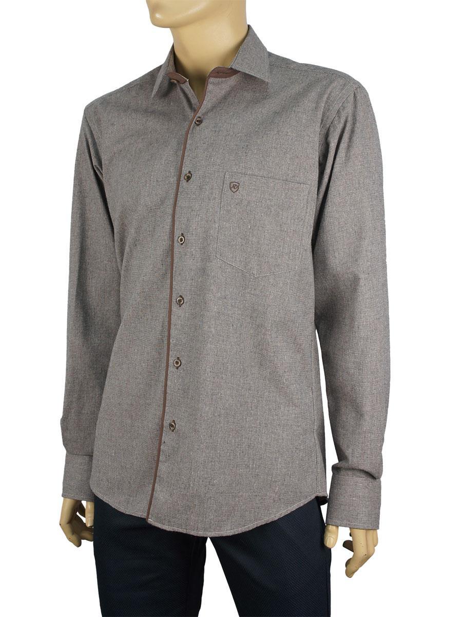 Чоловіча сорочка Negredo 1038#01 в коричневому кольорі