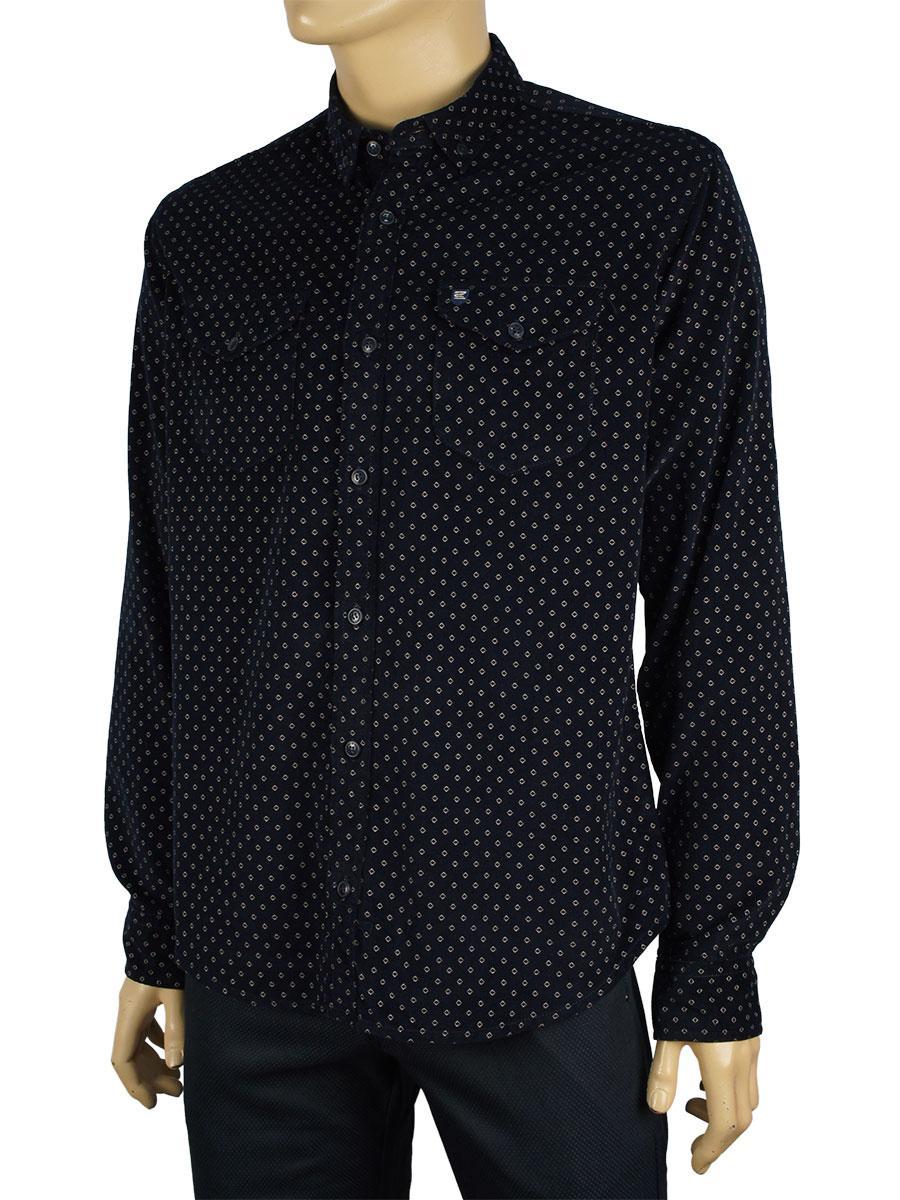 Чоловіча сорочка Cordial K:27-1005 темно-синя