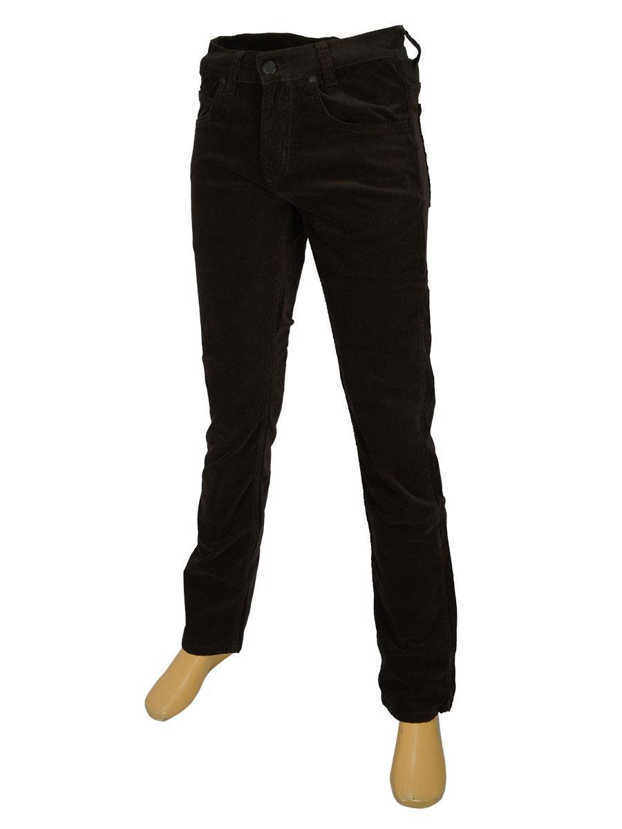 Вельветові чоловічі джинси Cen-cor CNC-1383 в коричневоу кольорі
