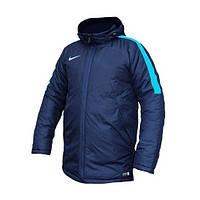 Куртка (парка) спортивная мужская NIKE GEN P MFILL JKT 688922-451 (синяя, зимняя, с капюшоном, логотип найк)