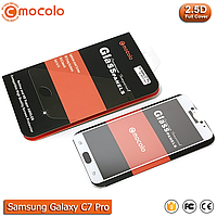 Защитное стекло Mocolo Samsung Galaxy C7 Pro Full cover (White), фото 1