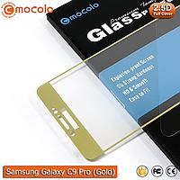 Защитное стекло Mocolo Samsung Galaxy C9 Pro Full cover (Gold), фото 1