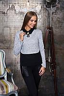 Блуза Лючия (6 цв), теплая блузка, трикотажная блуза