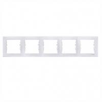 Рамка пятирная белый/с.к SEDNA Schneider electric