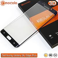 Защитное стекло Mocolo Samsung Galaxy S6 Edge+ 3D (Electroplating Blue), фото 1
