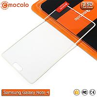 Защитное стекло Mocolo Samsung Galaxy Note 4 Full cover (White), фото 1