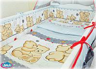 Постельное белье из 6 ед.в кроватку новорожденного (без балдахина и кармана)-Обнимашки, серия Organic Cotton
