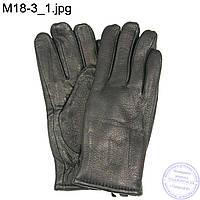 Мужские кожаные зимние перчатки из оленьей кожи - M18-3