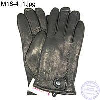 Мужские кожаные зимние перчатки из оленьей кожи - M18-4