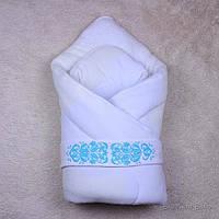 Зимний конверт-одеяло на выписку для мальчиков и девочек Вензеля