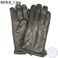 Мужские кожаные зимние перчатки из оленьей кожи - M18-5