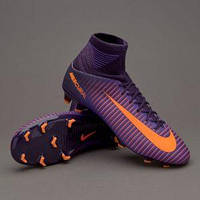 Детские футбольные бутсы Nike Mercurial Superfly V JR FG Purple Dinasty/Bright Citrus/Hyper Grape