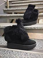 Замшевые ботинки (ЕВРО ЗИМА) с натуральным мехом