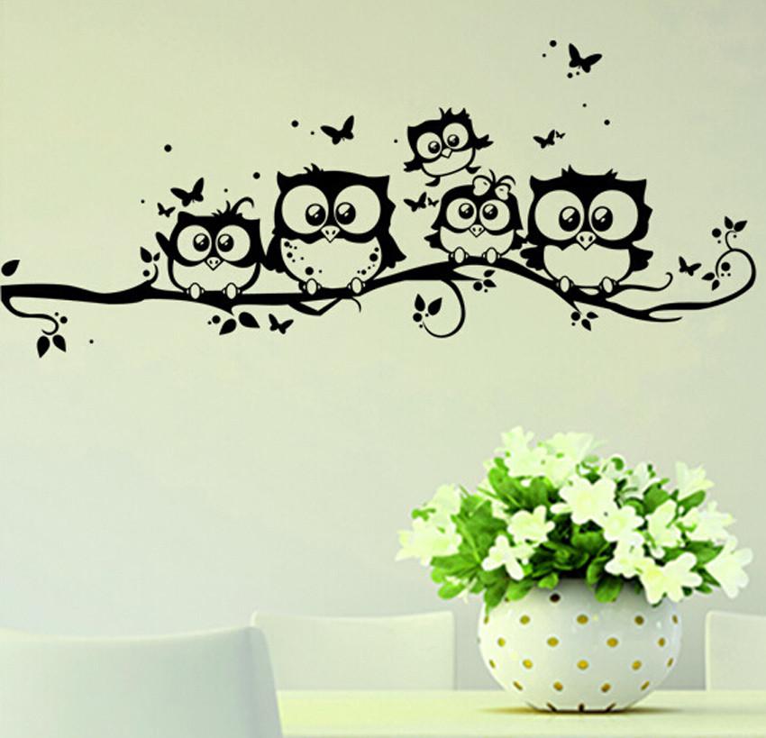 """Наклейки (стикеры) на стену """"Совы"""", Дизайн и декор"""