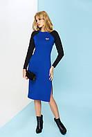 Трикотажное платье А-66 электрик ТМ Arizzo 44-54 размеры