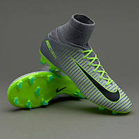 Детские футбольные бутсы Nike Mercurial Superfly V JR FG Pure Platinum/Black/Ghost Green