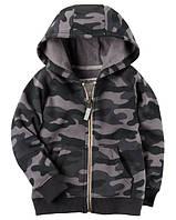 Толстовка Carters на мальчика 2-5 лет Brushed Fleece Camo Zip-Up Hoodie