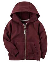 Толстовка Carters на мальчика 2-5 лет Brushed Fleece Zip-Up Hoodie