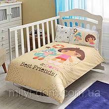 Постельное белье для новорожденных ТАС DORA BEST FRIENDS BABY