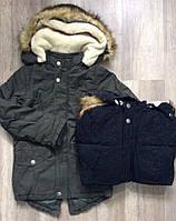 Курточка на меховой подкладке для мальчиков Nature оптом ,10/11-16/17 лет.