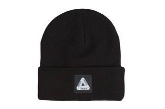 Зимова шапка чорна з логотипом Palace в стилі унісекс чоловіча жіноча