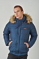Зимняя мужская куртка с мехом на силиконе 3011/1