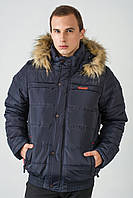 Зимова чоловіча куртка з хутром на силіконі 3011/2, фото 1