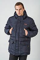 Зимняя мужская куртка на силиконе больших размеров 3020, фото 1