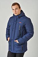 Зимняя мужская куртка на силиконе больших размеров 3020/1, фото 1